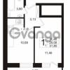 Продается квартира 1-ком 31.85 м² бульвар Менделеева 5, метро Девяткино