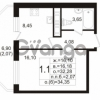 Продается квартира 1-ком 32.28 м² улица Шувалова 1, метро Девяткино