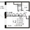 Продается квартира 1-ком 34.57 м² улица Шувалова 1, метро Девяткино