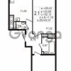 Продается квартира 2-ком 52.12 м² улица Шувалова 1, метро Девяткино