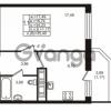 Продается квартира 1-ком 34.23 м² улица Шувалова 1, метро Девяткино