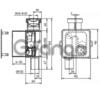 Встроенный сифон для кондиционера HL138
