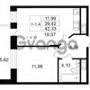 Продается квартира 1-ком 39.4 м² улица Костюшко 19, метро Московская