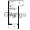 Продается квартира 1-ком 26.29 м² Английская улица 1, метро Улица Дыбенко