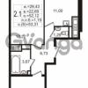 Продается квартира 2-ком 52.12 м² улица Шувалова 3, метро Девяткино