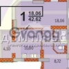 Продается квартира 1-ком 43 м² Гмыри Бориса