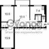 Продается квартира 3-ком 61 м² Чоколовский бульв