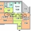 Продается квартира 3-ком 92 м² Цветаевой Марины