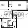 Продается квартира 3-ком 64 м² Победы просп