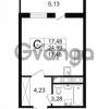 Продается квартира 1-ком 24.99 м² проспект Космонавтов 102, метро Звездная