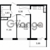 Продается квартира 2-ком 48.29 м² проспект Космонавтов 102, метро Звездная