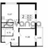Продается квартира 2-ком 56.44 м² проспект Космонавтов 102, метро Звездная