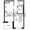 Продается квартира 1-ком 37.44 м² проспект Космонавтов 102, метро Звездная