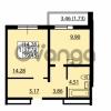 Продается квартира 1-ком 37.72 м² улица Дыбенко 6, метро Улица Дыбенко