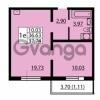 Продается квартира 1-ком 36.63 м² улица Дыбенко 6, метро Улица Дыбенко