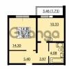 Продается квартира 1-ком 37.78 м² улица Дыбенко 6, метро Улица Дыбенко