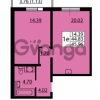 Продается квартира 1-ком 44.83 м² улица Дыбенко 6, метро Улица Дыбенко