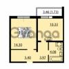 Продается квартира 1-ком 38.08 м² улица Дыбенко 6, метро Улица Дыбенко
