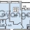 Продается квартира 2-ком 52.82 м² Европейский проспект 14, метро Улица Дыбенко
