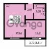 Продается квартира 1-ком 36.88 м² улица Дыбенко 6, метро Улица Дыбенко