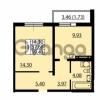 Продается квартира 1-ком 37.68 м² улица Дыбенко 6, метро Улица Дыбенко