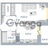 Продается квартира 1-ком 39.83 м² Европейский проспект 14, метро Улица Дыбенко