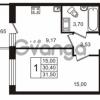 Продается квартира 1-ком 30.4 м² Европейский проспект 14, метро Улица Дыбенко