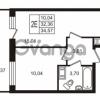 Продается квартира 1-ком 32.36 м² Европейский проспект 14, метро Улица Дыбенко
