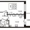 Продается квартира 1-ком 30.34 м² Европейский проспект 14, метро Улица Дыбенко