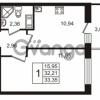 Продается квартира 1-ком 32.21 м² Европейский проспект 14, метро Улица Дыбенко
