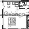 Продается квартира 1-ком 34.52 м² проспект Энергетиков 9, метро Ладожская
