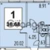 Продается квартира 1-ком 36 м² Мещера,д.23