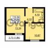 Продается квартира 1-ком 34.41 м² улица Дыбенко 6, метро Улица Дыбенко