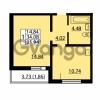 Продается квартира 1-ком 34.08 м² улица Дыбенко 6, метро Улица Дыбенко