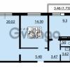 Продается квартира 2-ком 57.61 м² улица Дыбенко 6, метро Улица Дыбенко