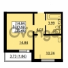 Продается квартира 1-ком 33.6 м² улица Дыбенко 6, метро Улица Дыбенко