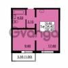 Продается квартира 1-ком 34.4 м² улица Дыбенко 6, метро Улица Дыбенко