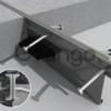 Несъемная металлическая опалубка Permaban AlphaJoint classic 4010 в бетонных полах толщиной 250 мм