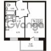 Продается квартира 1-ком 30.66 м² проспект Авиаторов Балтики 3