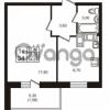 Продается квартира 1-ком 33.09 м² проспект Авиаторов Балтики 3, метро Девяткино