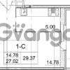 Продается квартира 1-ком 27.02 м² улица Пионерстроя 29, метро Проспект Ветеранов