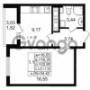 Продается квартира 1-ком 32.9 м² проспект Энергетиков 9, метро Ладожская