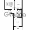 Продается квартира 2-ком 53.89 м² Комендантский проспект 53к 1, метро Комендантский проспект