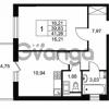 Продается квартира 1-ком 39.83 м² Комендантский проспект 53к 1, метро Комендантский проспект
