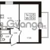 Продается квартира 1-ком 34.31 м² проспект Авиаторов Балтики 3, метро Девяткино