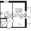 Продается квартира 1-ком 34.64 м² проспект Авиаторов Балтики 3, метро Девяткино