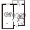 Продается квартира 1-ком 37.02 м² проспект Авиаторов Балтики 3, метро Девяткино