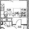 Продается квартира 1-ком 24.27 м² улица Шувалова 7, метро Девяткино