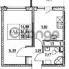 Продается квартира 1-ком 31.35 м² улица Шувалова 7, метро Девяткино