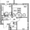 Продается квартира 2-ком 48.02 м² улица Шувалова 7, метро Девяткино